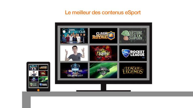 L'eSport débarque sur la TV d'Orange !