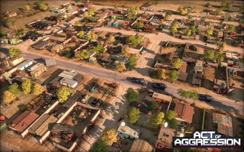 Jaquette de Act of Aggression, un nouveau jeu de stratégie futuriste sur PC