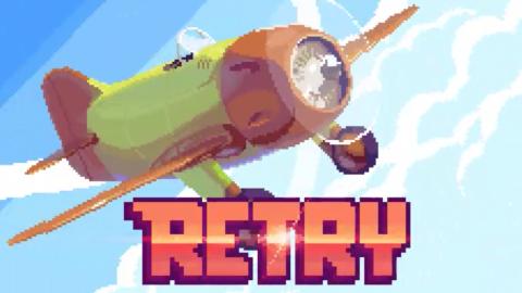 Jaquette de Retry, un envol rétro pour un oiseau de fer