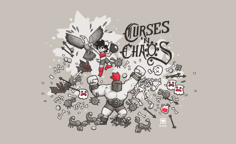 Jaquette de Curses 'N chaos, un beat them all à jouer en duo sur PC