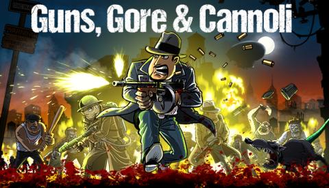 Jaquette de Guns, Gore & Cannoli : un Metal slug cartoon à la sauce mafieuse