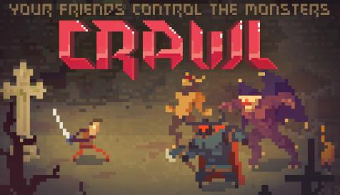Jaquette de Crawl - Un rogue-like pixelisé rempli de bonnes idées  sur PC