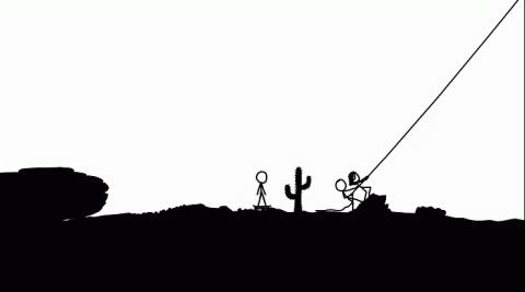 Jaquette de xkcd, un web comic interactif