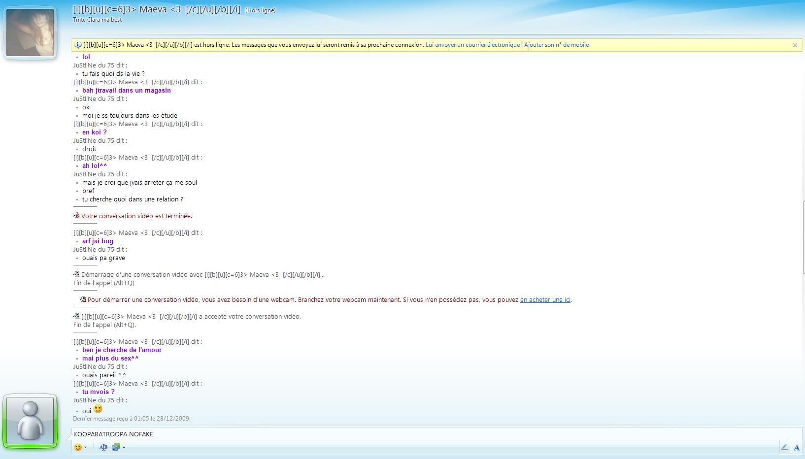 NOFAKE] Une meuf me fait un strip wcam! sur le forum Blabla ...