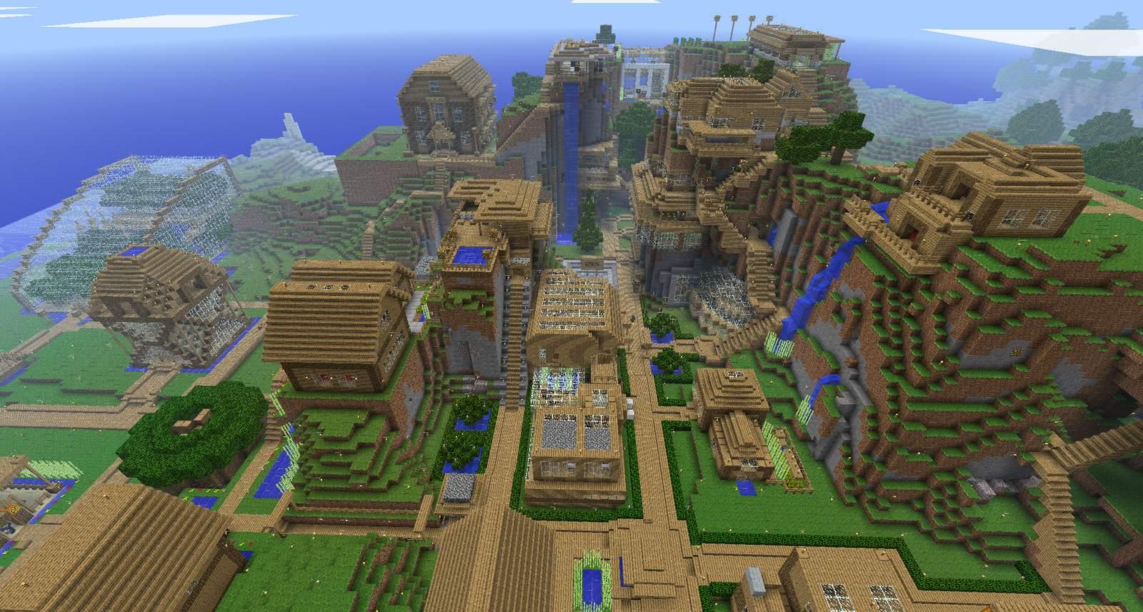 Minecraft Ville Plan