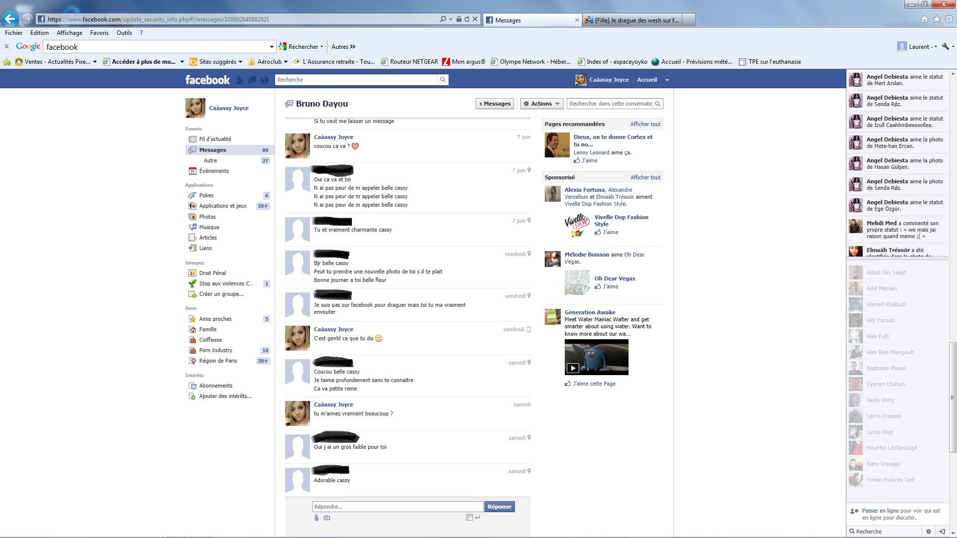 Je cherche des filles sur facebook