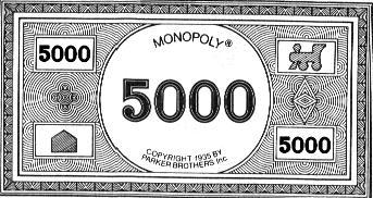 billet de banque monopoly