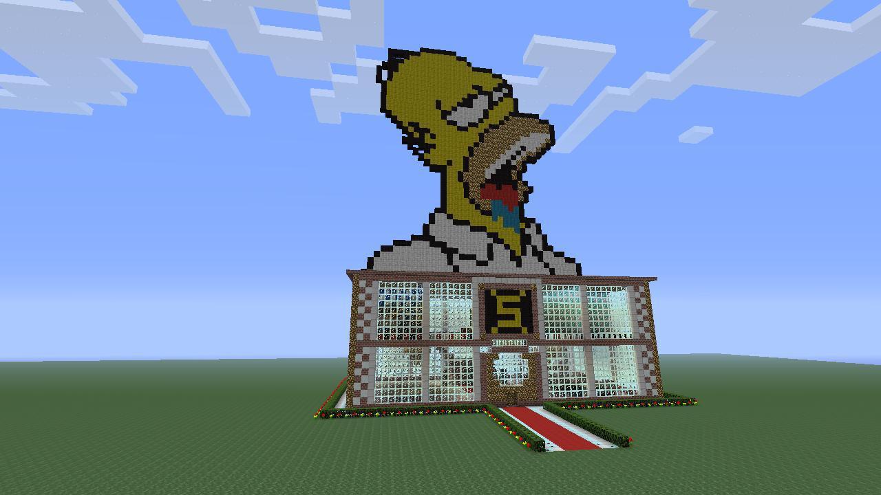 Pixel art maison for Maison facile minecraft