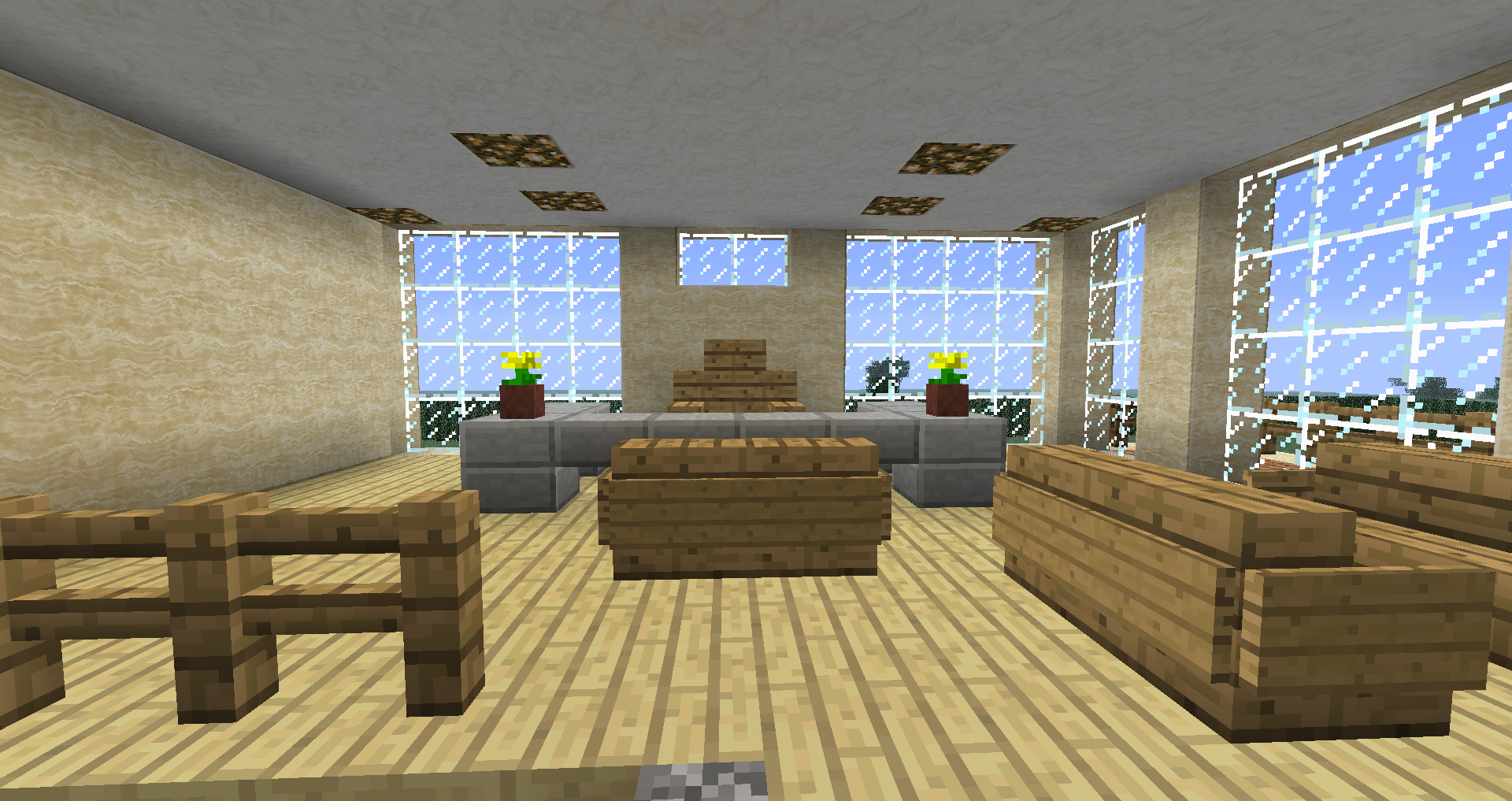 Villa minecraft sur le forum minecraft