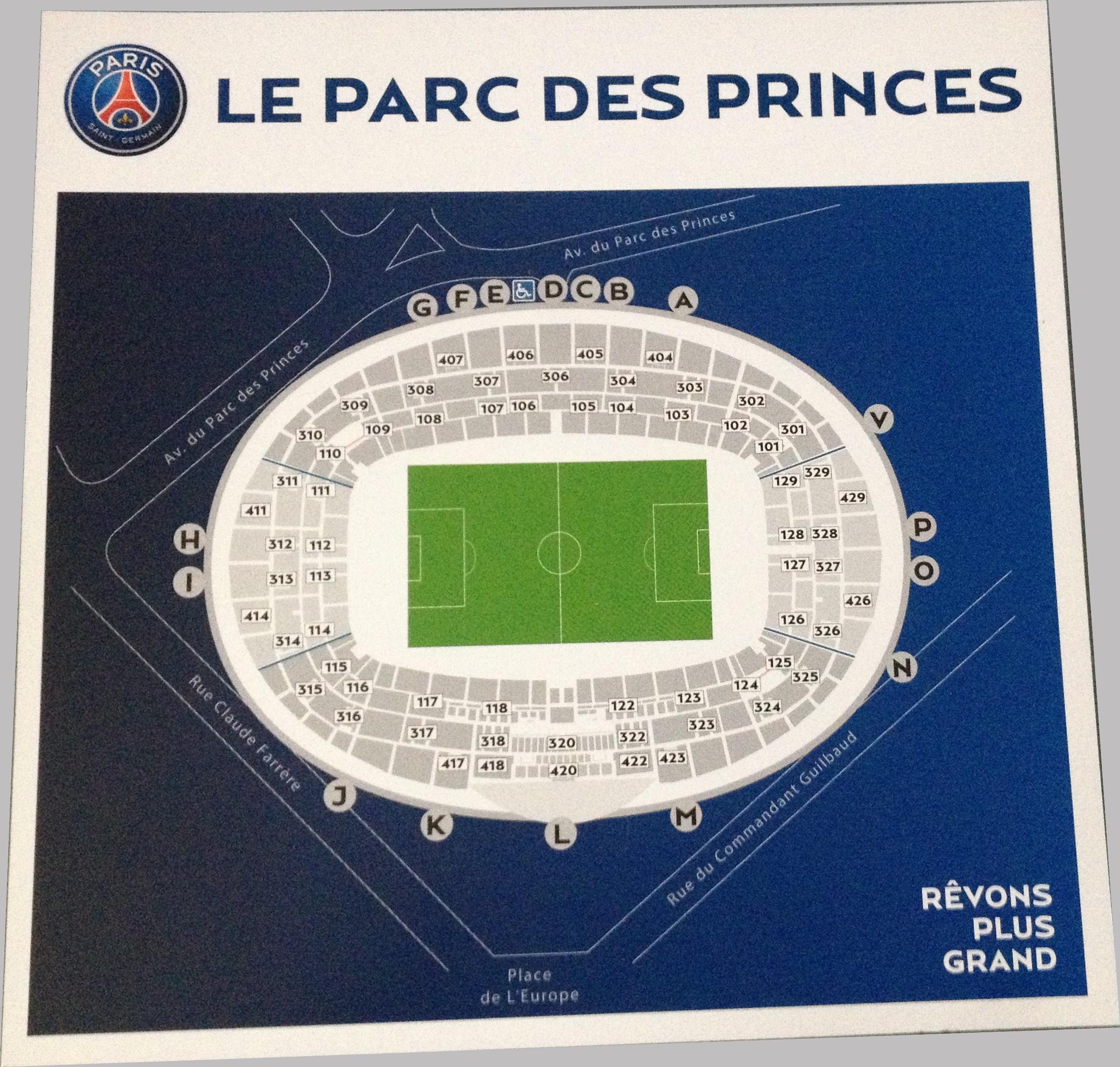 Paris parc des princes ligue 1 page 286 for Porte 0 parc des princes