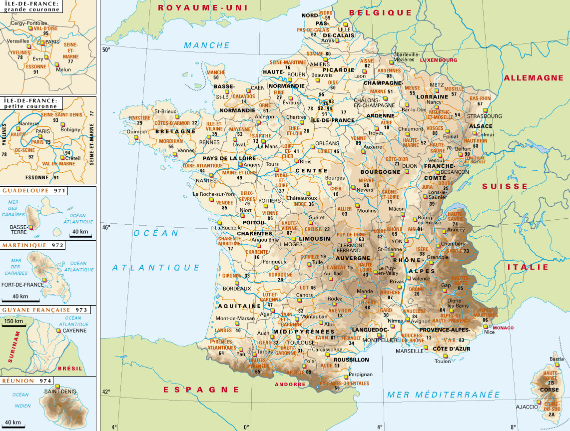 carte de france wallpaper