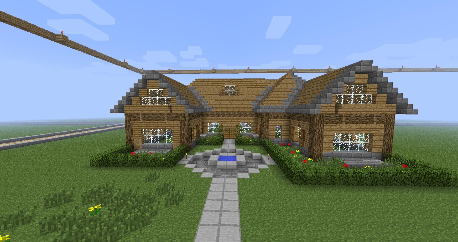 Ma maison sur 20 sur le forum minecraft 14 08 2013 04 01 18 - Jardin maison minecraft nimes ...