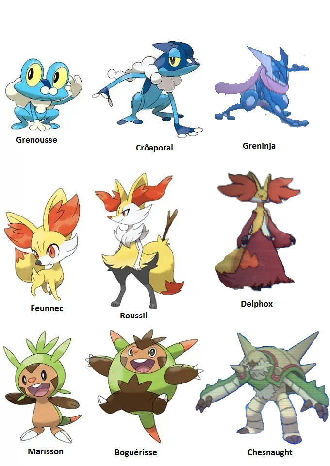 Pokemon xy 2 volutions et 1 nouveau pok mon p pokemon - Toute les evolution pokemon ...