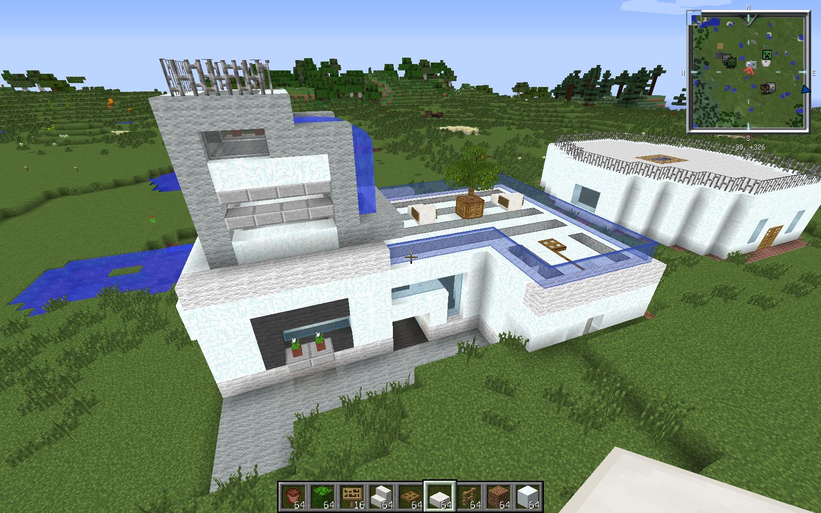 Petite maison type moderne sur le forum minecraft 25 02 2014 23 - Minecraft video maison ...