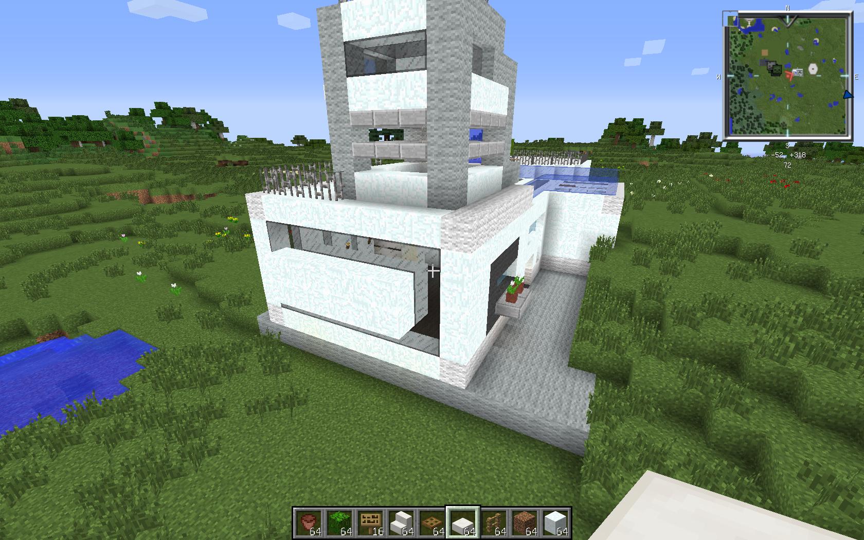 Petite maison type moderne sur le forum minecraft 25 for Petite maison moderne