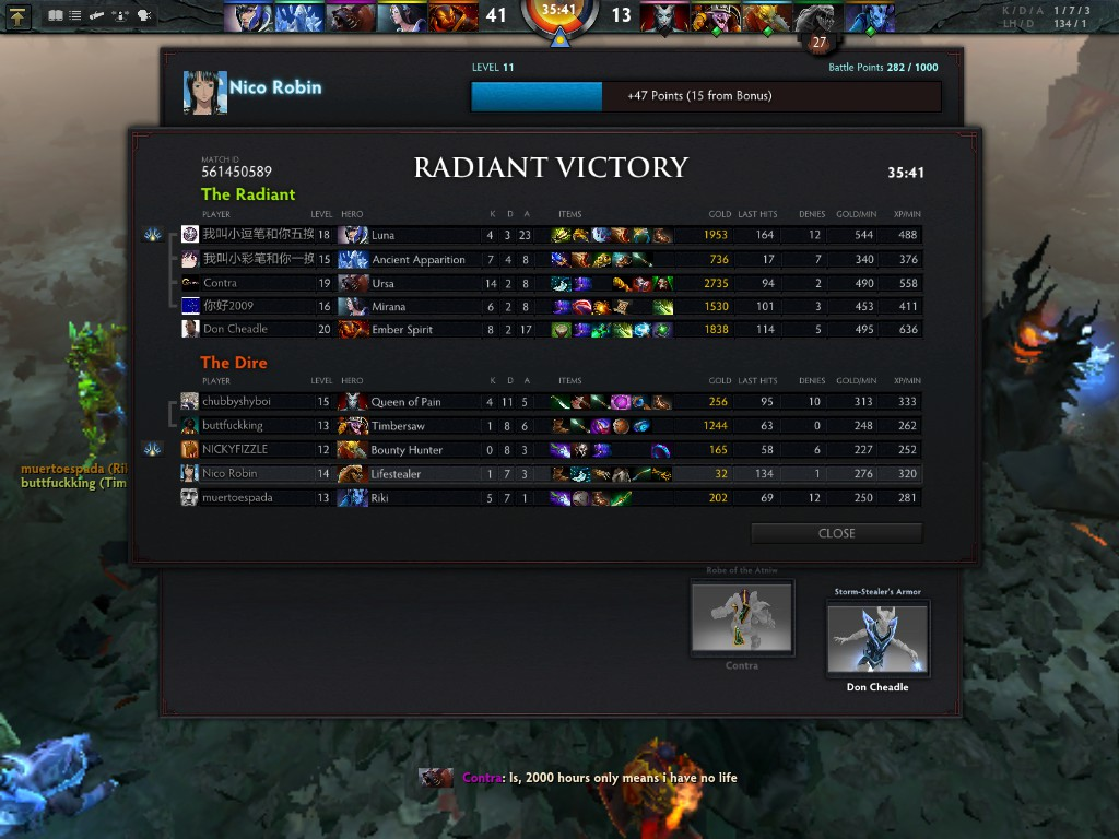 4 man premade 2000 hours vs 5 random with 100h