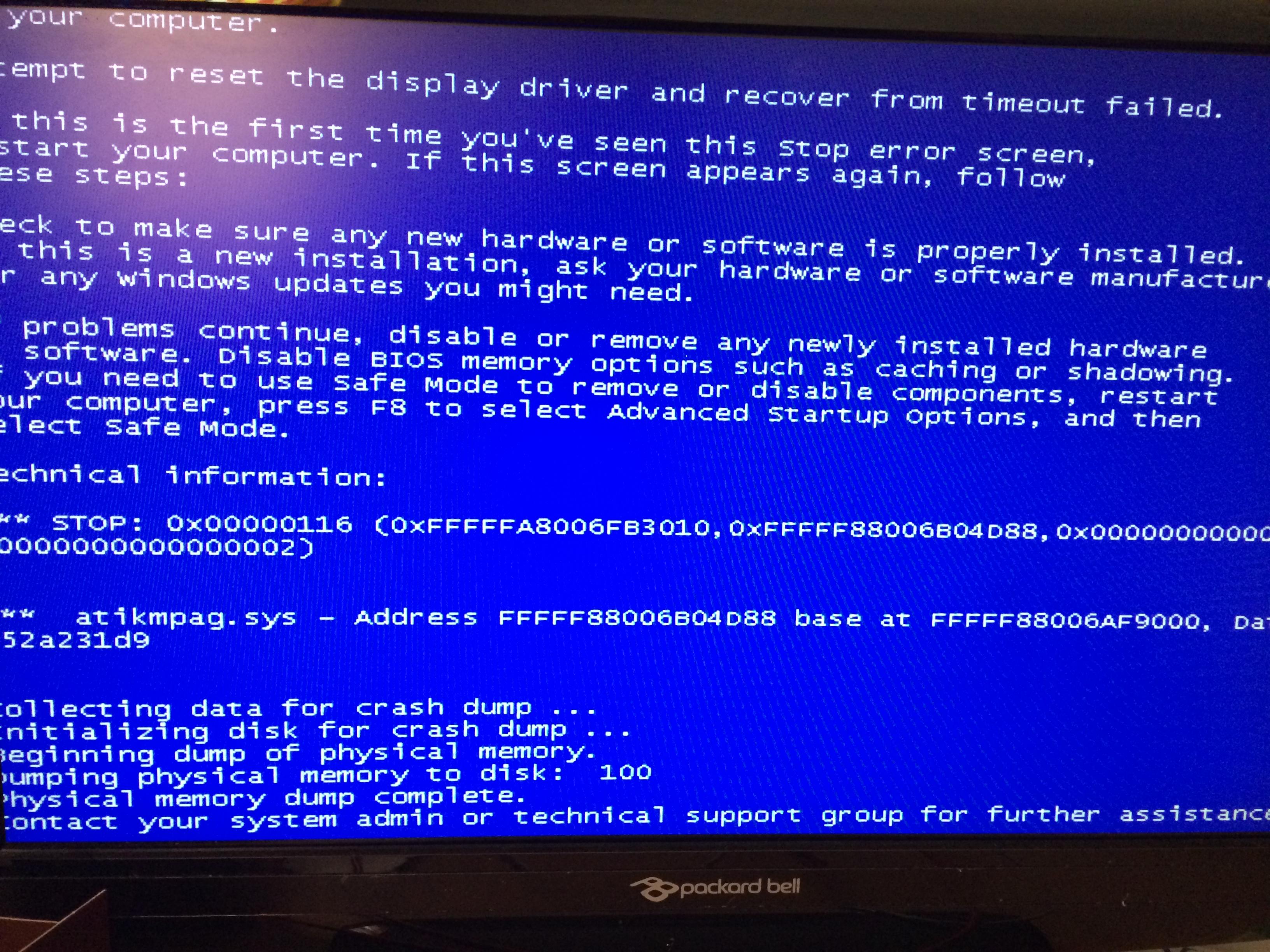 Bug Check 0x116 VIDEO_TDR_FAILURE - Windows …