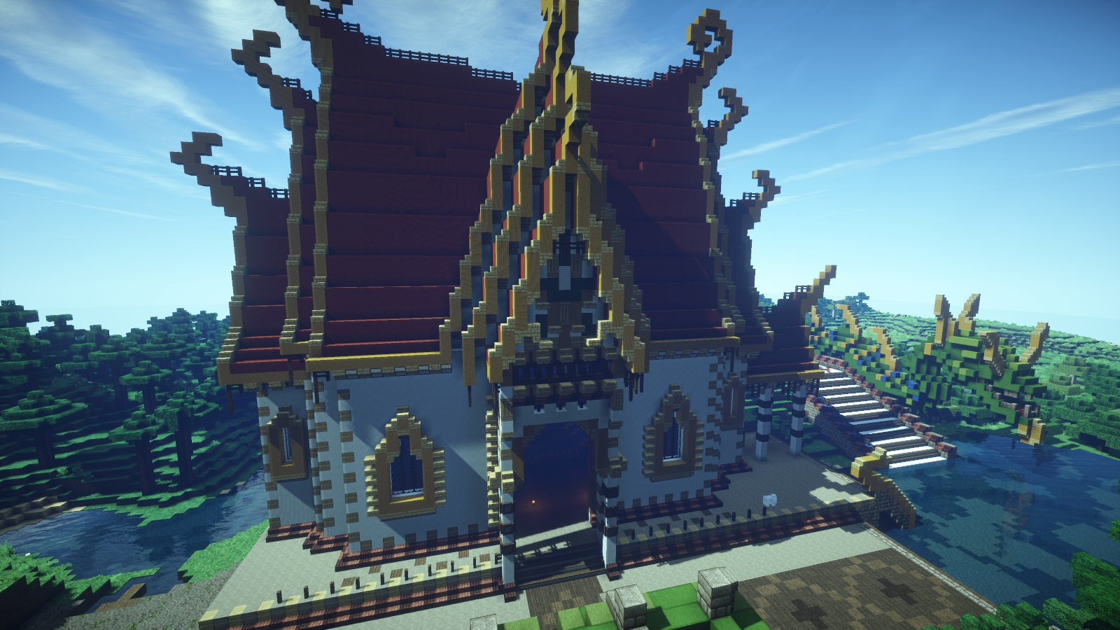 Thai temples creative mode minecraft java edition for Interieur forum
