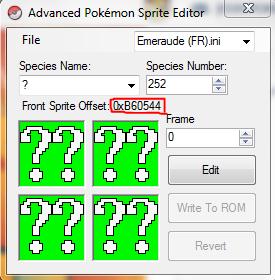 how to change pokemon rom sprite