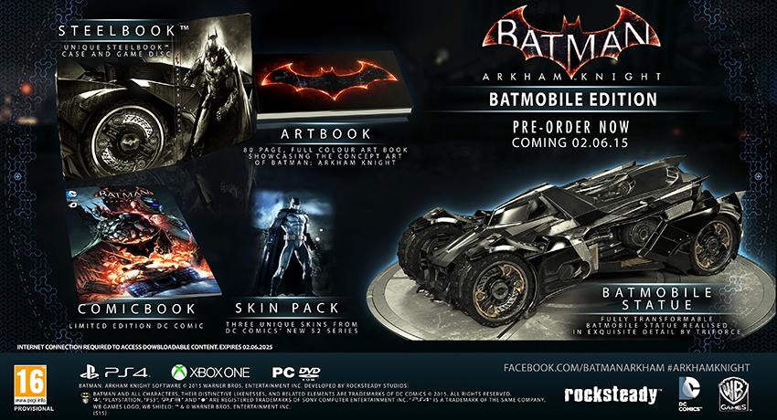 Aquí tenéis las dos ediciones limitadas de Batman Arkham Knight 2