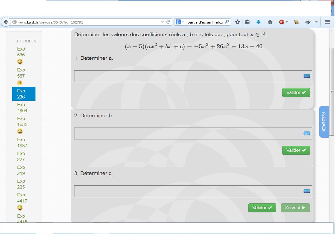 Les fonctions DM pour demain 1ère Mathématiques