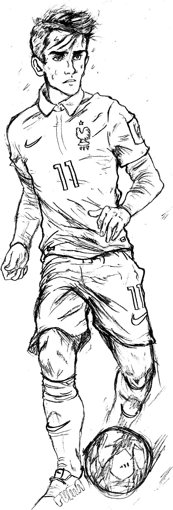 Mon dessin d 39 un joueur sur le forum football 11 02 2015 - Dessin de foot ...