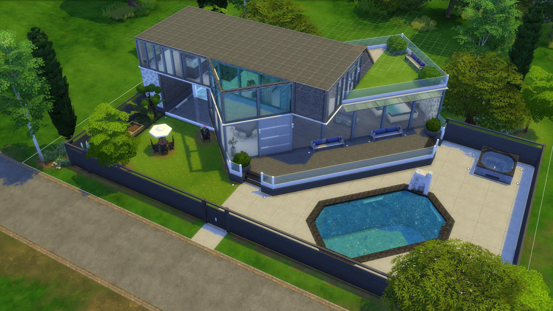 Quelques cr ations maison sims sur le forum les sims 4 for Sims 4 piscine a debordement