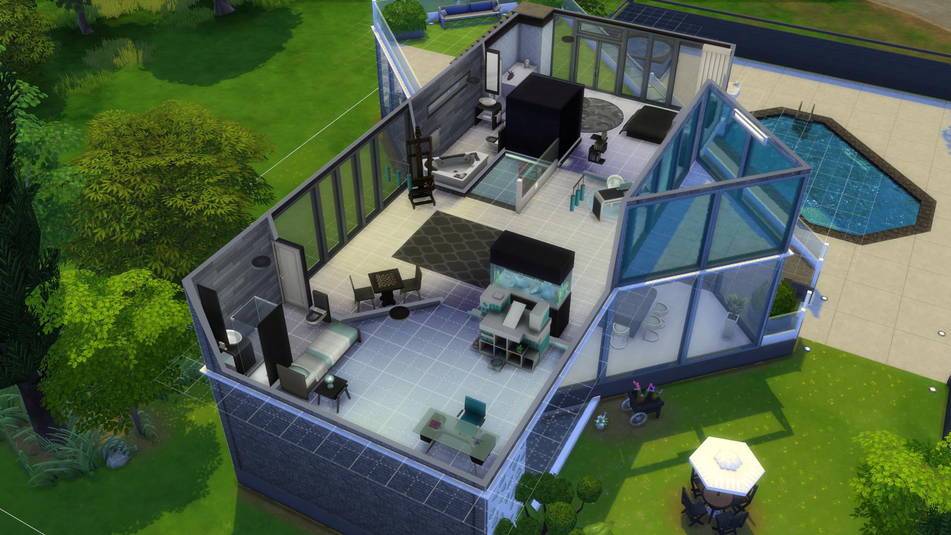 Quelques cr ations maison sims sur le forum les sims 4 for Modele maison sims
