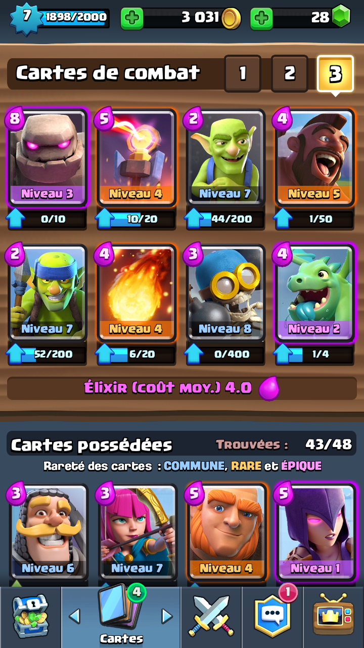 Deck golem pour monter ar ne 7 sur le forum clash royale for Clash royale meilleur deck arene 7