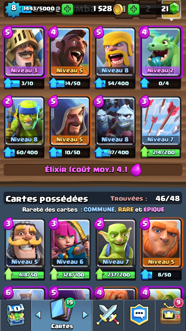 am lioration de deck ar ne 7 sur le forum clash royale