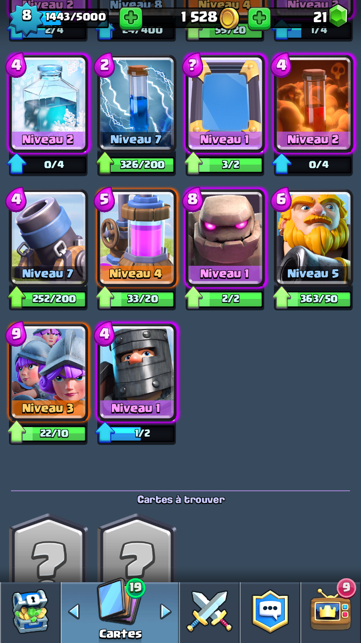 Am lioration de deck ar ne 7 sur le forum clash royale for Clash royale meilleur deck arene 7