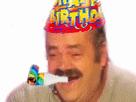 Sticker anniversaire happy birthday fete chapeau