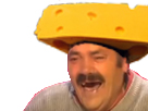 Sticker risitas fromage suisse chapeau