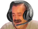 Sticker risitas casque rire