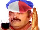 Sticker france baguette vin berret