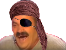 Sticker risitas rire pirate
