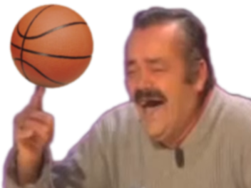 Sticker risitas doigt basketteur