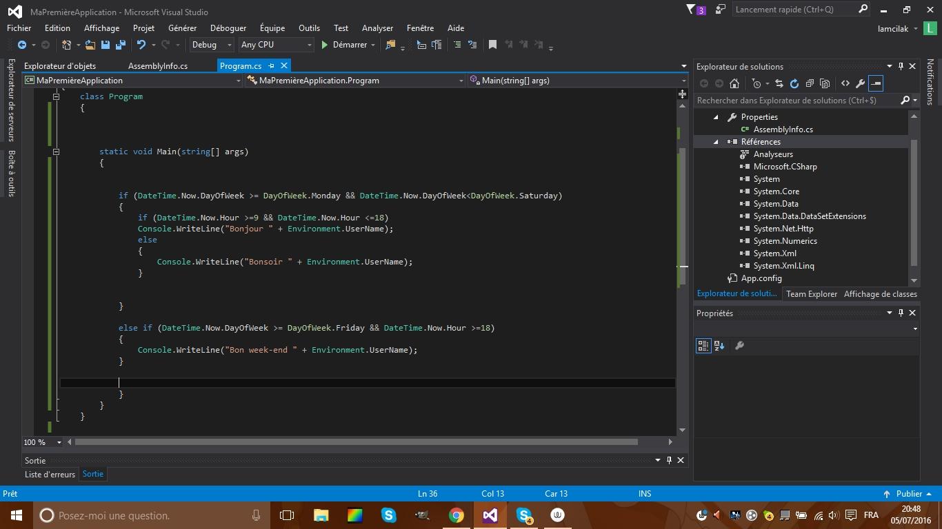 Aide pour le code