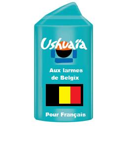 Sticker ushua belgix larmes belges belgique