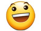 Sticker smiley narsai sourire
