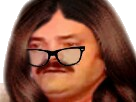 Sticker risitas meuf fille femme travesti lunettes