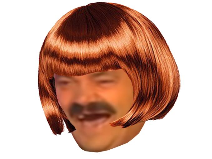 Sticker risitas femme coiffure cheveux