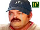 Sticker pleure mcdo macdo casquette esclave