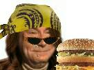 Sticker koh lanta koh lanta jesus jaune hamburger mcdo mclanta