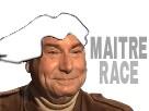 Sticker maitre course master race jesus