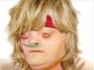 Sticker risitas femme cancer fille blonde blond