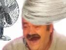 Sticker risitas femme travesti fille cheveux vent blanc
