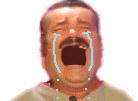 Sticker risitas pleur triste pls
