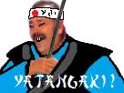 Sticker japonnais yatangaki yatanaki sabre katana samourai ninja