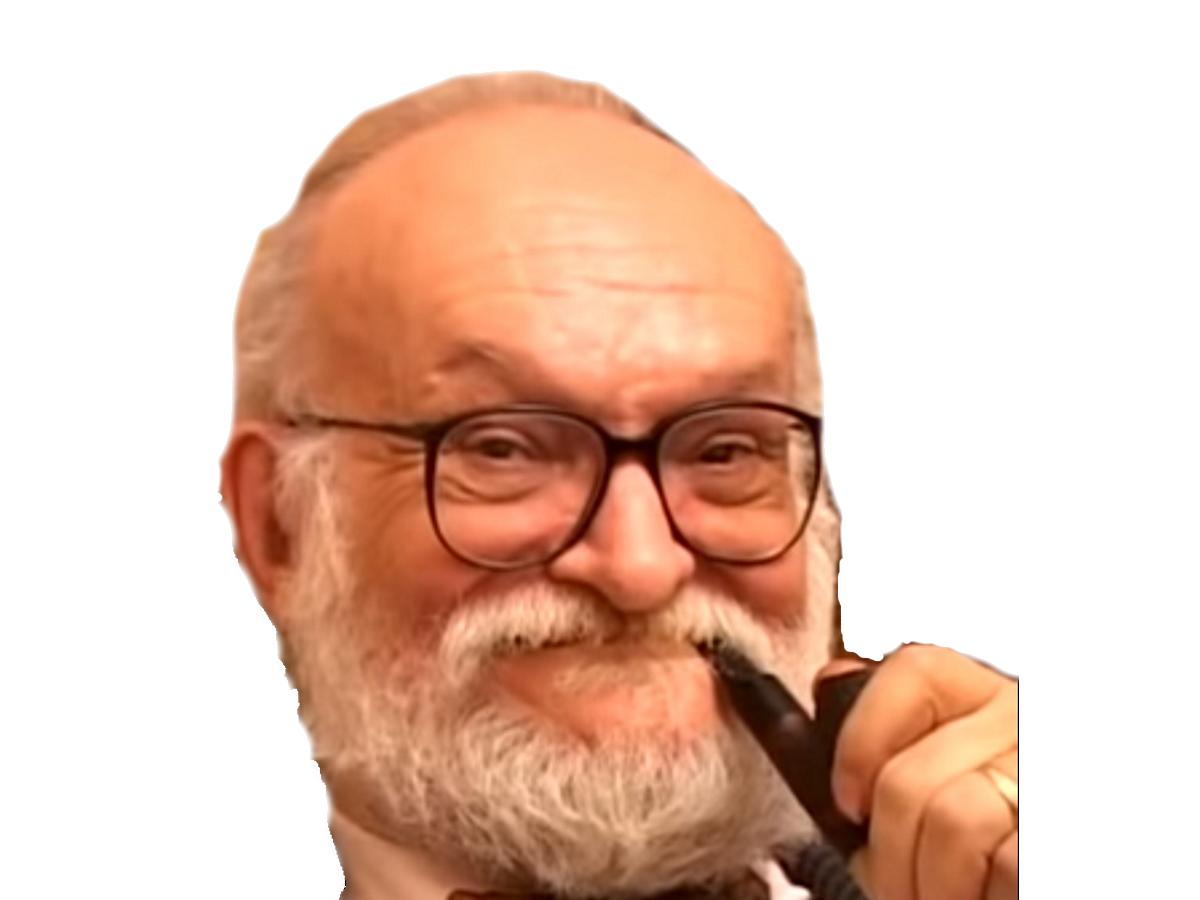Sticker pipe vieux lunette chauve interessant pedo